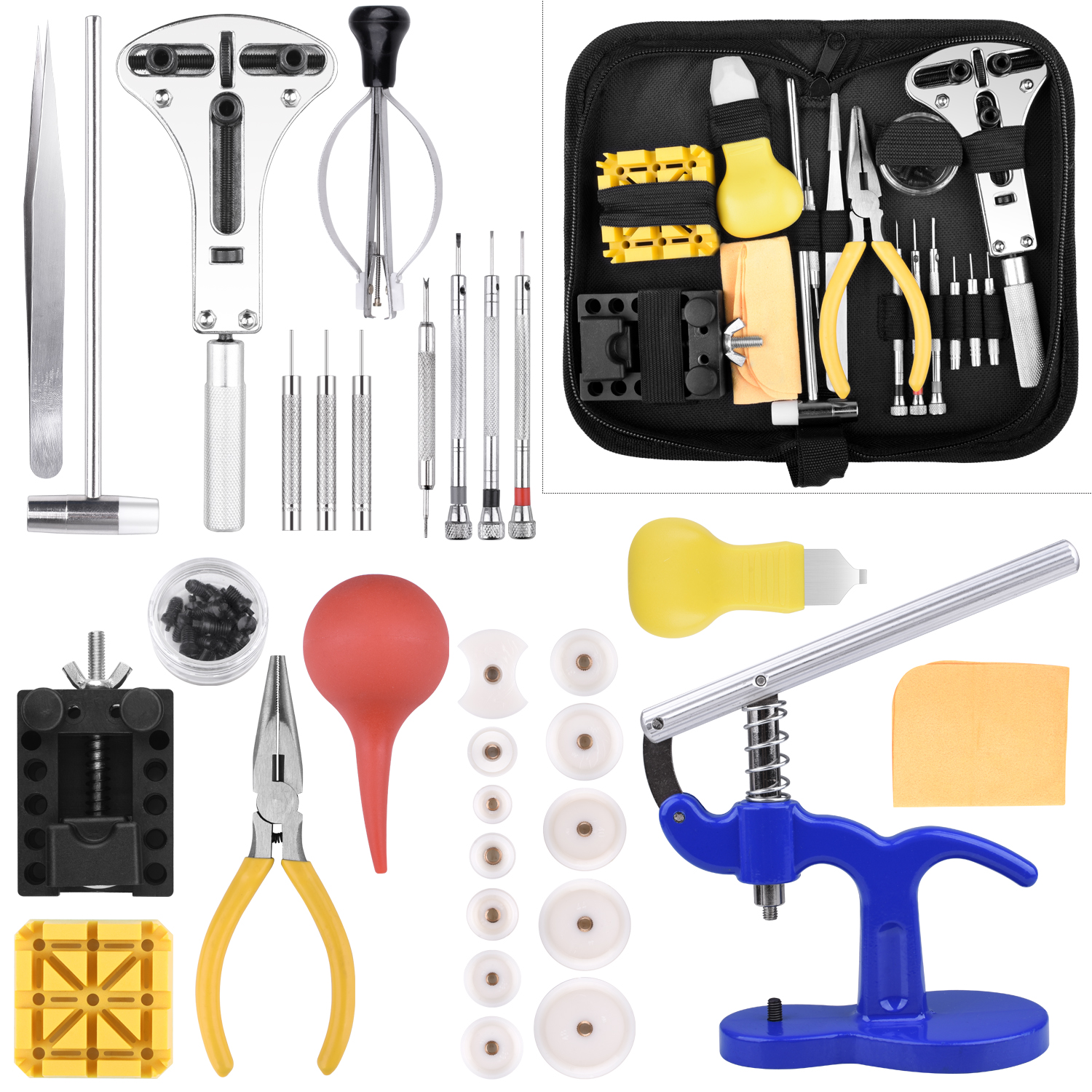 Watch Repair Tool Kit, Longruner Professional Portable Watch